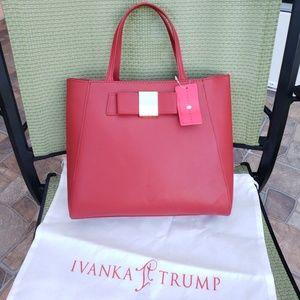 Ivanka Trump Blair Bags Handbags Tote Nwt Red